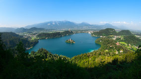 Bled Lake panorama Royalty Free Stock Photography