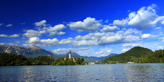Bled Lake. Panoramic view of Bled Lake, Slovenia, Europe Royalty Free Stock Photos
