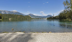 Bled lake pubble beach royalty free stock photo