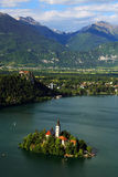 Bled Lake in Slovenia Royalty Free Stock Image
