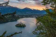 Bled Lake, Slovenia, with the Assumption of Mary Church Stock Photography