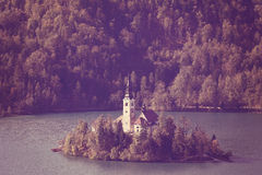 Bled lake, Slovenia Royalty Free Stock Images