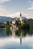 Bled lake in Slovenia Royalty Free Stock Images