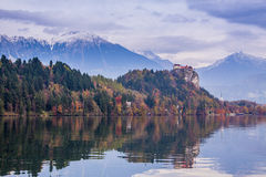 Bled with lake, Slovenia, Europe Stock Photo