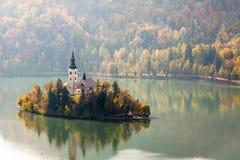 Bled with lake, Slovenia, Europe Stock Image