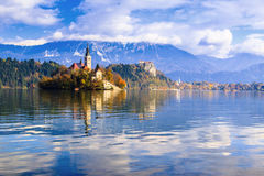 Bled with lake, Slovenia, Europe Royalty Free Stock Images
