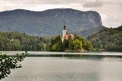 Bled lake in Slovenia Royalty Free Stock Photo