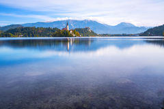 Bled with lake, Slovenia Stock Photos