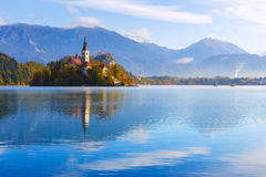 Bled with lake, Slovenia Royalty Free Stock Photo