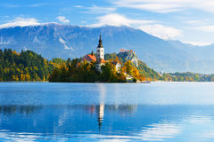 Bled with lake, Slovenia Stock Photo