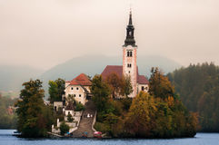 Bled lake, Slovenia. Lake Bled in northwestern Slovenia Royalty Free Stock Images