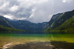 Bled Lake, Slovenia. View of Bojin Lake in Slovenia Royalty Free Stock Photo