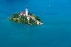 Bled with lake in summer, Slovenia Stock Photography