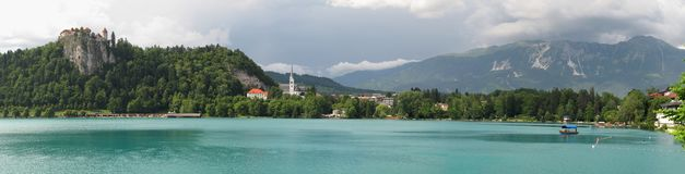 Bled lake in Triglav national park. Royalty Free Stock Images