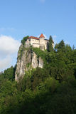 Bled medieval castle Stock Photos