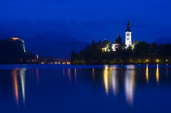 Bled at night Stock Images