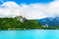Bled panorama Royalty Free Stock Photography