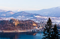 Bled castle old city Royalty Free Stock Image