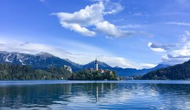 BLED, SLOVENIA. CHARMED LAKE royalty free stock photos