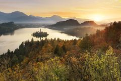 Bled in Slovenia, Europe Stock Photo