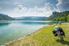 Bled, Slovenia. Bled lake, Slovenia. Bicycle traveling Stock Photo