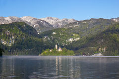 Bled, Slovenia - small church on the island Stock Images