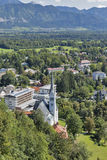 Bled town cityscape, Slovenia Royalty Free Stock Image