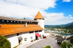 Bled wall and towers Royalty Free Stock Image