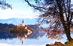 Bled whit lake, Slovenia, Europe Royalty Free Stock Photo