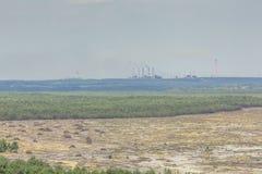 Bledow沙漠,沙子区域在Bledow和Chechlo村庄和Klucze之间的在波兰 免版税库存图片