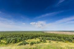 Bledowwoestijn, een gebied van zand tussen Bledow en het dorp van Chechlo en Klucze in Polen Stock Foto