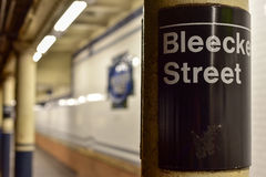 Bleecker Street Subway Station - New York City Royalty Free Stock Photo
