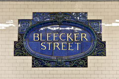 Bleecker Street Subway Station - New York City Royalty Free Stock Photography