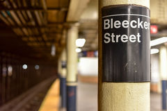 Bleecker Street Subway Station - New York City Royalty Free Stock Images