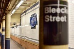 Bleecker Uliczna stacja metru - Miasto Nowy Jork Zdjęcie Royalty Free
