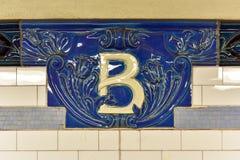 Bleecker Uliczna stacja metru - Miasto Nowy Jork Obrazy Stock