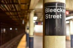 Bleecker Uliczna stacja metru - Miasto Nowy Jork Obrazy Royalty Free