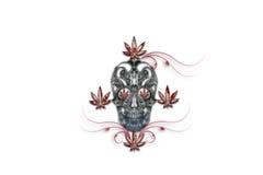 Bleeding Cannabis Head Royalty Free Stock Photo