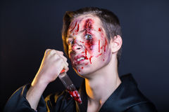 Bleeding face Stock Image