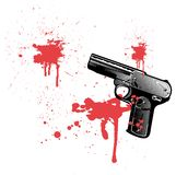Bleeding gun Royalty Free Stock Photos