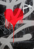 Bleeding heart. Graffiti Stock Photo