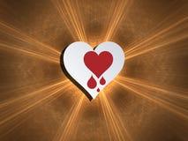 Bleeding heart. Heartbleed bug, feelings, blood donation and heart health. Concept for modern technological world Stock Illustration