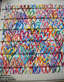 Bleeding Hearts Lovewall mural by artist JGoldcrown in Soho in Manhattan. Royalty Free Stock Photo
