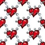 Bleeding hearts seamless pattern Stock Photo