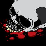 Bleeding Human Skull Stock Photos