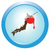 Bleeding Japan Royalty Free Stock Photography