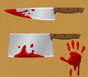 Bleeding Knife1 Royalty Free Stock Images