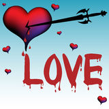 Bleeding love Royalty Free Stock Photos