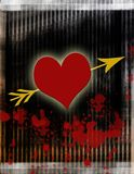 Bleeding Love Heart. Computer generated image. Broken, bleeding heart, love lust. Romance or Valentine background Royalty Free Stock Image