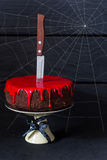 Bleeding monster cake. Royalty Free Stock Photo